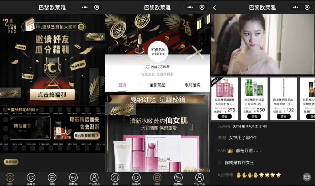 WeChat per le aziede - WeChat Live Streaming - L'Oreal - Hylink Italy